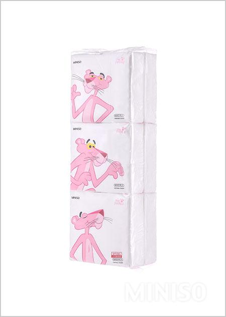 Pink Panther Cute Portable Tissues 6 Pack Miniso